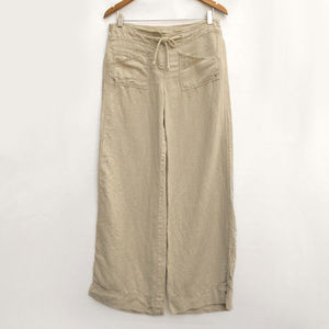 Anthropologie Ett Twa Linen Wide Leg Summer Pants